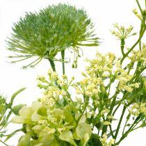 Silkeblommor, konstgjord bukett, blomdekoration med tistlar 40cm