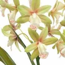 Orchid Cymbidium Green i en kruka Konstgjord H46cm