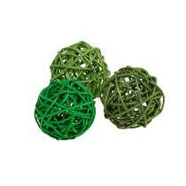 Dekorativa bollar grön mix Ø5cm 36p