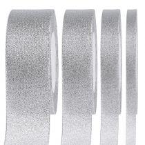 Dekorativt band silver i olika bredder 22,5 m