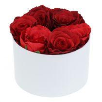 Blomma låda blomma låda vit rund Ø14cm - Ø16cm 2 st