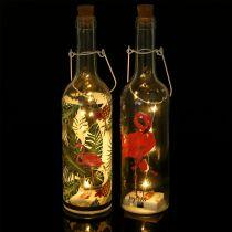 Dekorativ flaska LED Flamingo 37,5 cm varmvit 2st