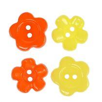 Dekorativa knappar Ø1,5 cm färgade 200st.
