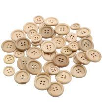 Dekorativa knappar naturliga 1,5 cm - 2,5 cm 150p