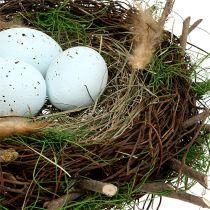Dekorativt bo med ägg Ø30cm 1 st