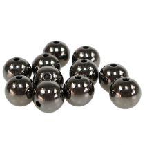 Dekorativa pärlor antracit metallic 14mm 35st
