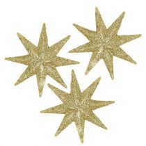 Dekorativa stjärnor guld Ø5cm 20st