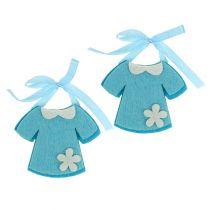 Födelsedekoration filtklänning blå 7cm 20st