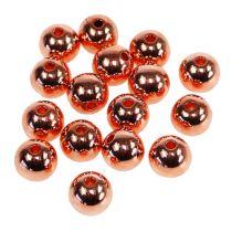 Dekorativa pärlor koppar metalliska 14mm 35st