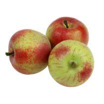 Dekorativ äppelröd, grön Ø6cm 6st