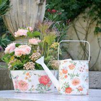 Dekorativ vattenkanna metall vintage rosor sommar dekoration trädgård H31.5cm