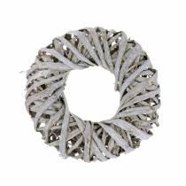 Dekorativ krans liana trävitt tvättad Ø30cm