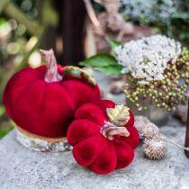 Deco pumpa röd bordsdekoration höstpolyresin 10,5 × 9cm 2st