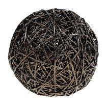 Dekorativ boll mörkbrun Ø15cm