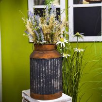 Deco mjölkkanna vintage look metallplanter trädgårdsdekoration H35cm