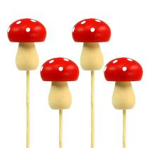 Dekorativ svamppaddapluggkontakt röd 3,5 cm L30cm 12st