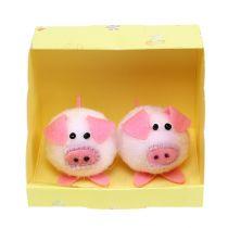 Dekorativ piggy pink 5cm set
