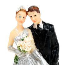 Deco silverbröllopspar 10cm