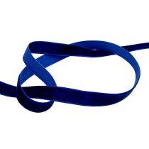 Dekorativa band sammetblått 10mm 20m