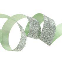 Dekorativ tejp ljusgrön med glimmer 10mm 150m
