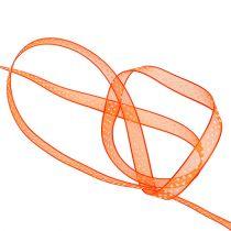 Dekorband orange med prickar 7mm 20m