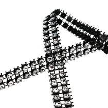 Dekorativ tejp svart, silver 10mm 4m