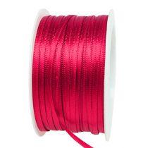 Present- och dekorationband 3mm x 50m rosa