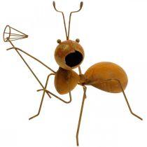 Deko figur myra metall fjäril nät trädgård dekoration rost 19cm