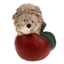 Dekorativt igelkott på apple 7,5 cm keramik