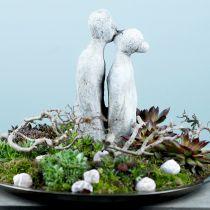 Dekorativ figur kyssande par stengjuten 40cm