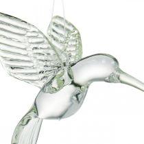 Dekoration kolibri, glas dekoration, paradis fågel, glas hänge, dekoration fågel