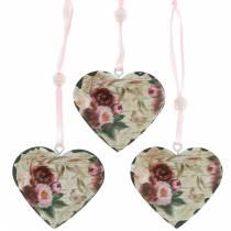 Dekorativa hjärtpioner nostalgisk metallhjärta för att hänga 6st