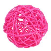 Dekorativa bollar rosa Ø7cm 18st