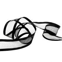 Dekorativt band svart 40mm 25m