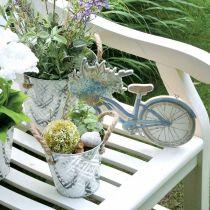 Deco skylt trä cykel sommar deco skylt för att hänga blå, vit 31 × 25cm