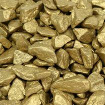 Dekorativa stenar 9mm - 13mm 2 kg gult guld