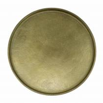 Dekorativ platta lera Ø20cm guld