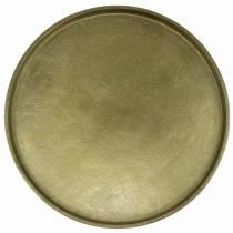 Dekorativ tallrikslera Ø30cm guld
