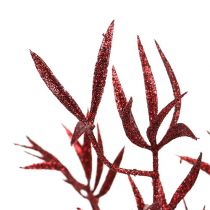 Dekorativ grenröd med glimmer 69 cm 2st