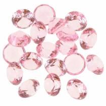 Dekorativa stenar akryl i ljusrosa Ø1.8cm 150g spridningsdekoration för bordet