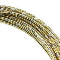 Diamant aluminiumtråd guld 2mm 10m