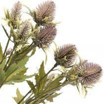 Konstgjord tistel lila gren 10 blommor huvuden 68cm 3st