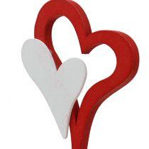 Dekorativ plugg dubbel hjärta 28 cm 18 st