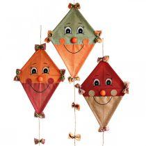 Dekorativ drake att hänga upp Höstdekoration jute diverse 40 × 55cm 3st
