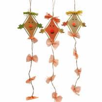 Fall dekoration drake att hänga 10,5 cm x 11 cm 6 st