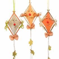 Fall dekoration drake att hänga 20 cm x 13 cm 3 st