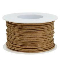 Papperstråd, tråd inslagen i Ø2mm, 100m naturligt