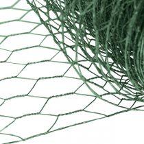 Sexkantigt nät grönt tråd PVC-belagt trådnät 50cm × 10m