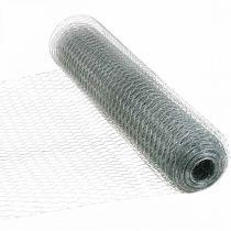 Sexkantig flätad tråd, silverförzinkad, kanintråd 50cm × 10m