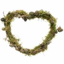 Trådhjärta 30cm vågring för väggkrans kransring hjärta 10st